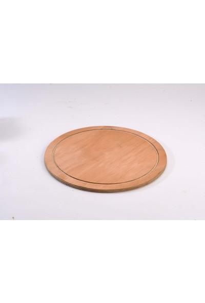 2E Ahşap Ahşap 28 Cm Pizza Sunum Tahtası %100 Doğal Kayın Ağacı