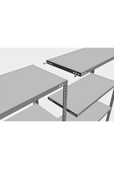 Binbirreyon Çelik Raf Sistemi Kiler Arşiv Depo Rafı 3 Raflı 43X93X00Cm