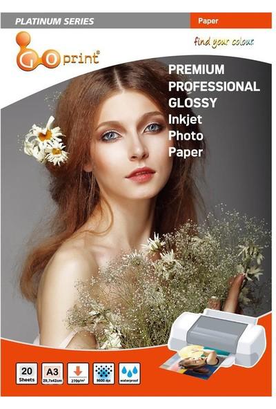 Goprint Platınum Serisi Premium Ultra Parlak A3 Fotoğraf Kağıdı 270Gr, Glossy 20 Yaprak