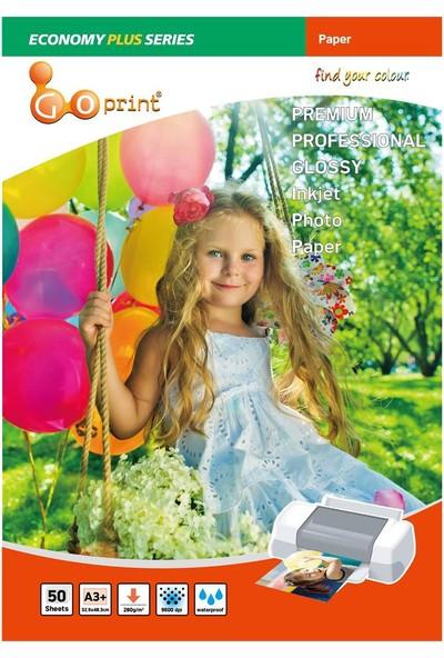 Goprint Economy Plus Serisi Glossy A3+ 32,9X48,3 Cm Fotoğraf Kağıdı 280Gr, Parlak 50 Yaprak
