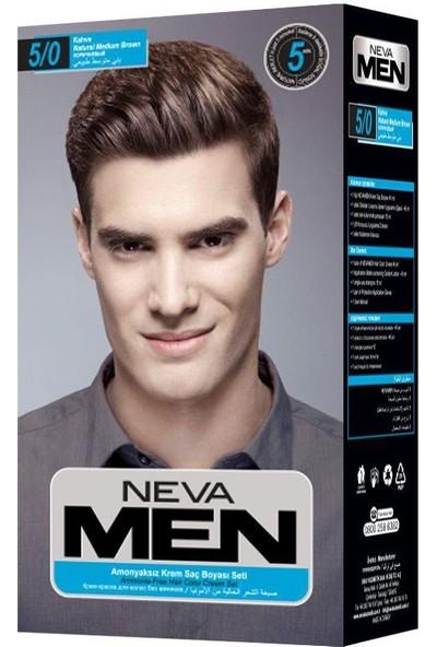 Neva Men Amonyaksız Krem Saç Boyası Seti 5/0 Kahve
