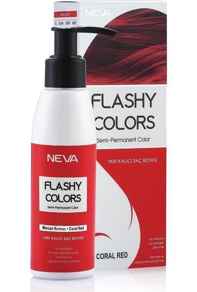 Neva Flashy Colors Yarı Kalıcı Saç Boyası Mercan Kırmızı - Coral Red