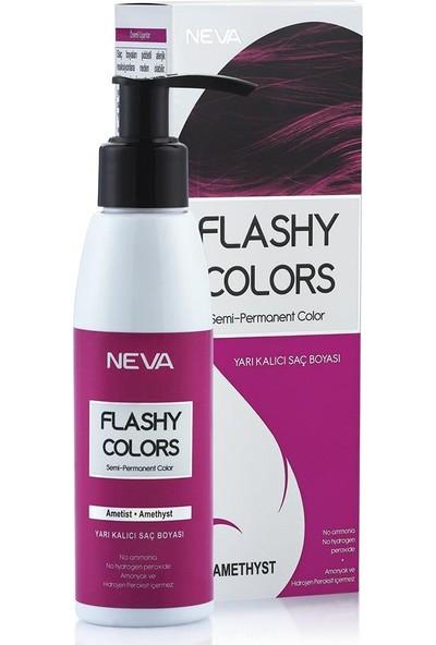 Neva Flashy Colors Yarı Kalıcı Saç Boyası Ametist - Amethyst