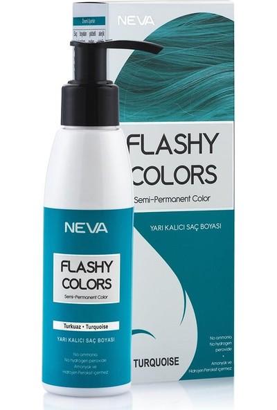 Neva Flashy Colors Yarı Kalıcı Saç Boyası Turkuaz - Turquoıse