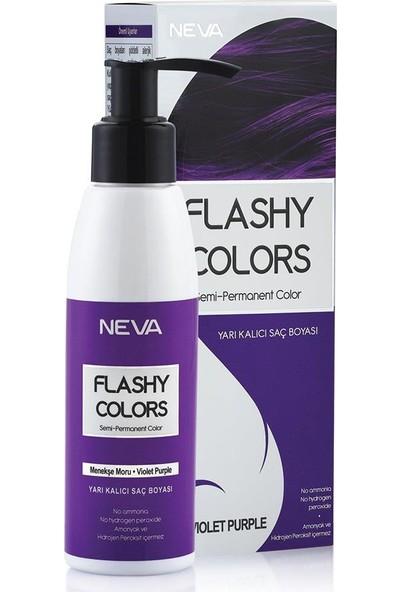 Neva Flashy Colors Yarı Kalıcı Saç Boyası Menekşe Moru-Violet Purple