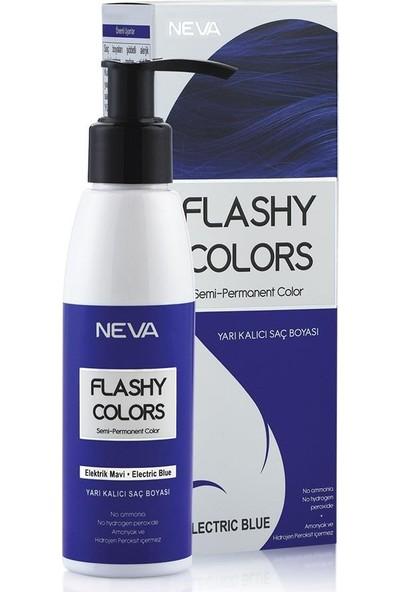 Neva Flashy Colors Yarı Kalıcı Saç Boyası Elektrik Mavi-Electrik Blue