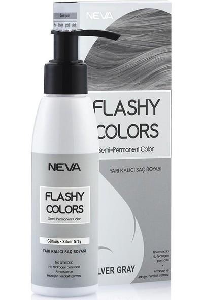 Neva Flashy Colors Yarı Kalıcı Saç Boyası Gümüş - Silver Gray