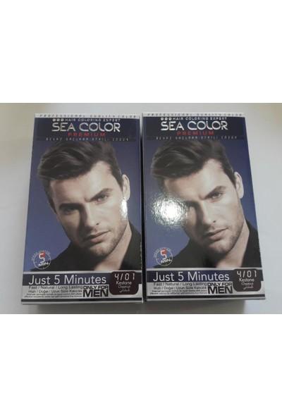 Sea Color Premıum Erkek Saç Boyası 4/01 Kestane Only For Men