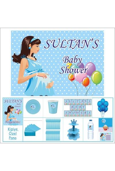 Baby Shower Çocuk Seti Erkek Çocuğu Süpriz 30 kişilik Parti Çocuk