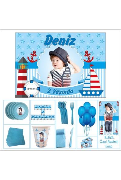 Denizci Erkek Çocuğu 2 Yaş Doğum Günü Süpriz Set 20 Kişilik
