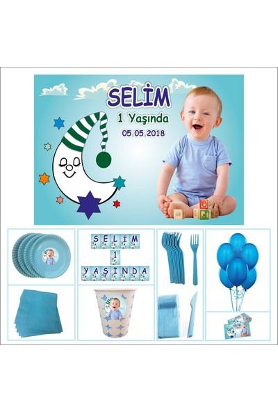 Erkek Çocuğu 1 Yaş Doğum Günü Özel Set 40 Kişilik