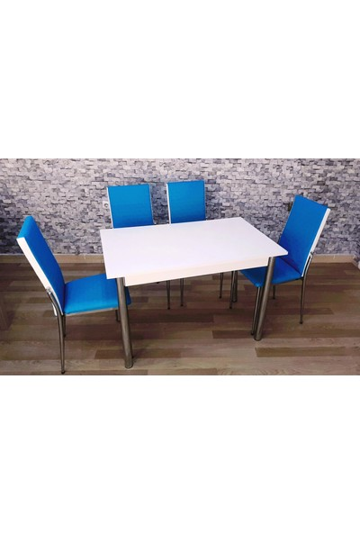 Kutuphome Gözde Masa Sandalye Takımı Mavi