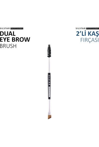 Limonian Silstar Dual EyeBrow Brush - 2'li Açılı Kaş Fırçası