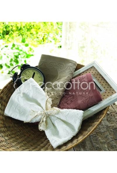 Ecocotton Organik Pamuk 3'lü Mutfak Havlu Seti İsabella-Kahve