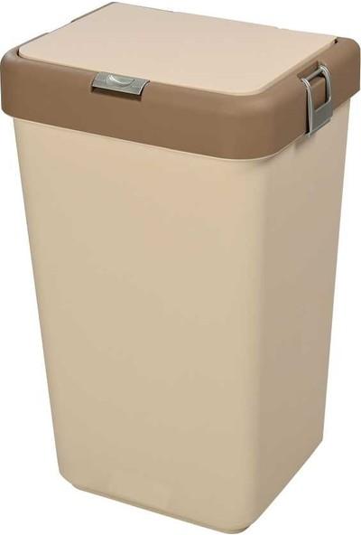 Motek Dokunmatik Kirli Çamaşır Sepeti (Kahverengi)