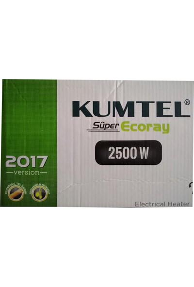 Kumtel 2017Model Süper Ecoray Elektirikli Soba Infraret Isıtıcı 2500 Watt Duvar Tipi