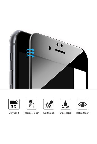 Microsonic Huawei P10 Lite 3D Kavisli Temperli Cam Ekran koruyucu Film