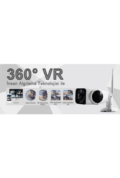Jasboom Jas130-F01G, 1.3Mp 360 Derece Görüş Açısı, Çift Yönlü Ses, 960P Hd Panoramik Ip Kamera