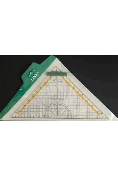 Linex Geometrik Açılı Gönye 32 Cm Şeffaf 2632 076700
