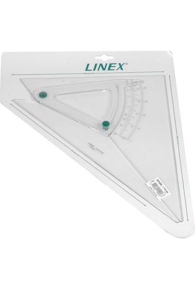 Linex Açılı Akrilik Gönye 45 Derece 16 Cm A1120-12F