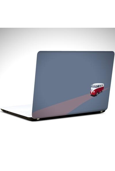 Dekolata Wolkswagen Minimal Laptop Sticker Boyut LAPTOP 14 inch (35X26)