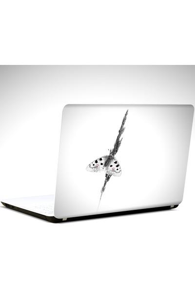 Dekolata Kelebek Siyah Beyaz Laptop Sticker Boyut LAPTOP 14 inch (35X26)