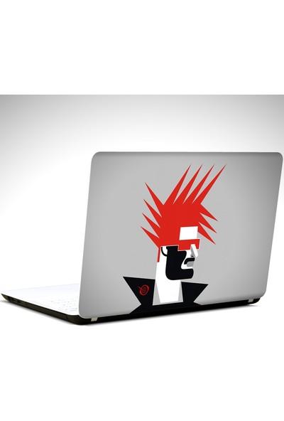 Dekolata Minimal Saçlar Laptop Sticker Boyut LAPTOP 10 İnch (25X19)