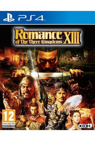 Romance Of Three Kıngdoms XIII PS4