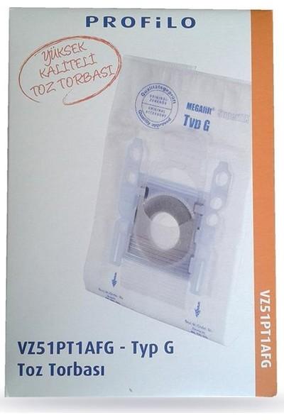 Profilo Süpürge Toz Torbası Orjinal G Tipi 1 pakette 5 Adet
