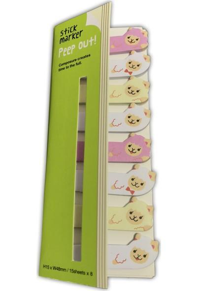 İstisna & Stick Marker - Kuzu Figürlü Yapışkanlı Not Kağıdı