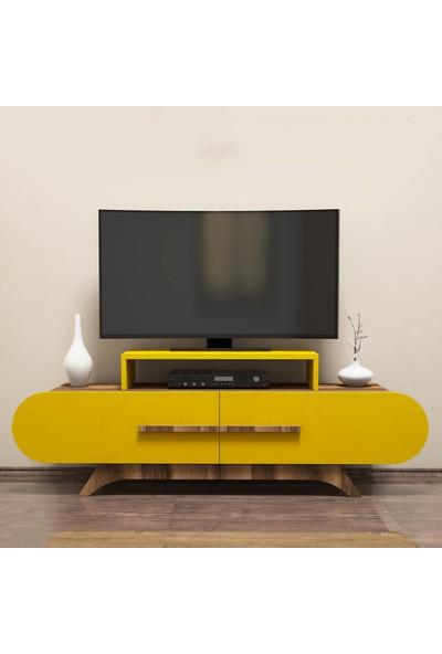 Variant Concept Rose Tv Ünitesi Ceviz - Sarı
