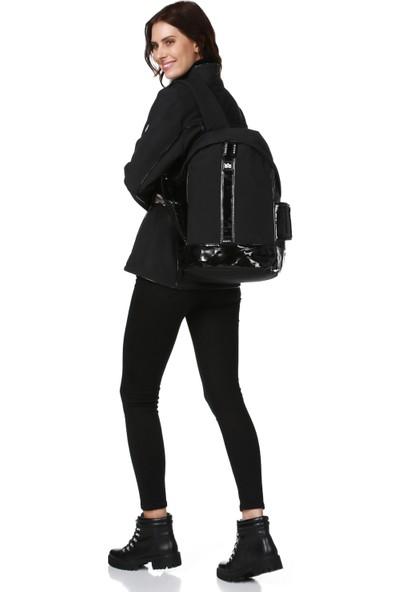 Essin Kadın Mont Sırt Çantası Siyah