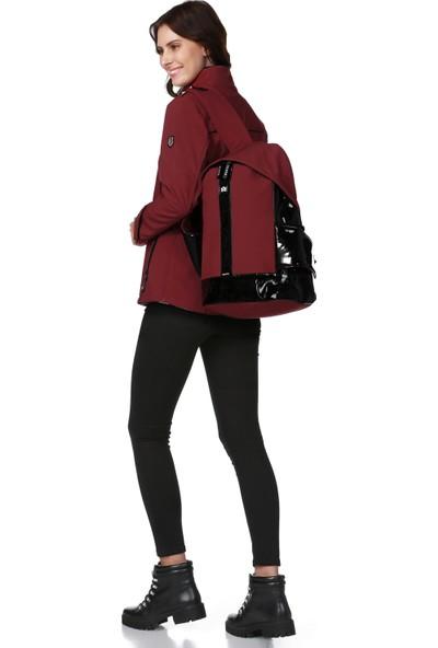 Essin Kadın Mont Sırt Çantası Kırmızı