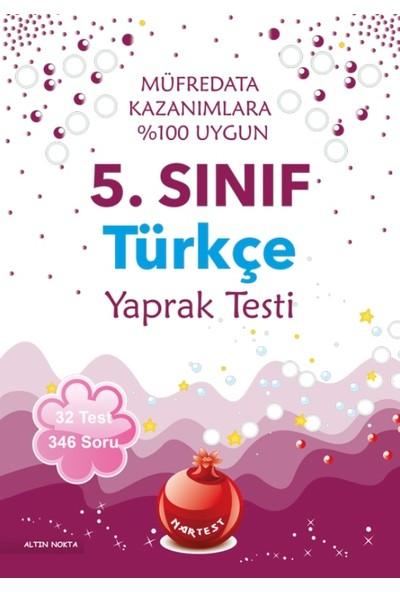 Nartest 5. Sınıf Türkçe Yaprak Test - Yeni Müfredat