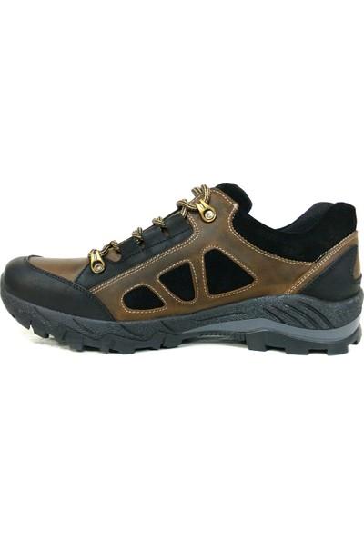 Dropland 5187 Siyah Camel Bağcıklı Casual Erkek Ayakkabı