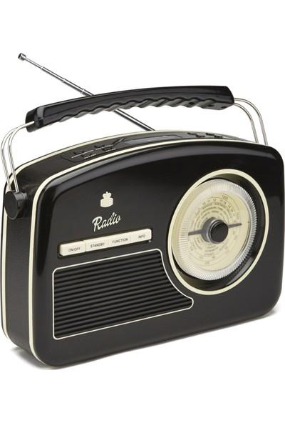 Gpo Rydell 4 Band Retro Dizayn Radyo Siyah