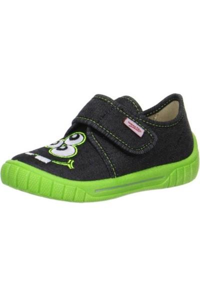 Superfit Çocuk Cırtlı Ayakkabı, Schwarz, Bill, 270.00 Siyah/Fıstık Yeşil Desenli