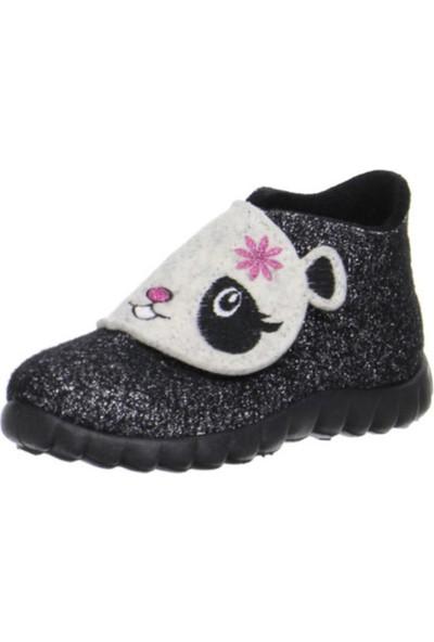 Superfit Kız Çocuk Ev Ayakkabısı, Schwarz, Happy, 295.00 Siyah