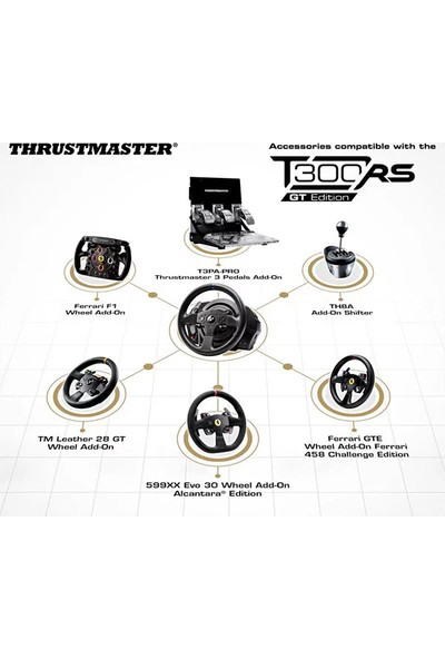 Thrustmaster T300 RS GT Edition Özel Yarış Direksiyonu
