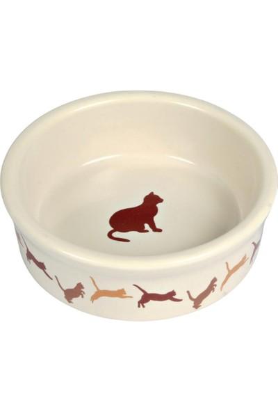 Trixie Kedi Porselen Mama/Su Kabı 0,25Lt/11Cm