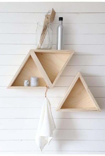 Woodha Trıange Duvar Tablo - Raf