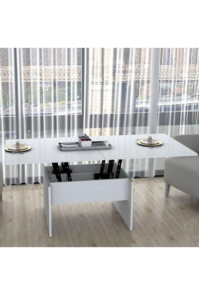 Sanal Mobilya Akıllı Sehpa & Masa Beyaz