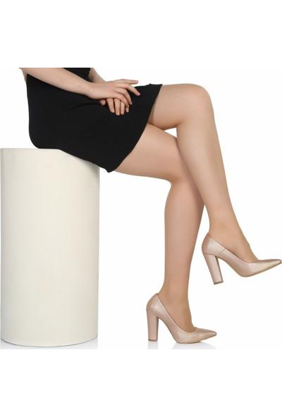 Sothe Ba-1023 Kadın Pudra Lavezzi Kalın Topuklu Stiletto