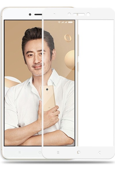 Sonmodashop Xiaomi Redmi Note 4X 2.5D Tam Ekran Cam Ekran Koruyucu
