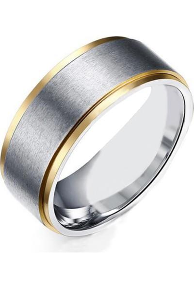 Chavin Nişan Ve Evlilik Yüzüğü Unisex Çelik Yüzük Dr04