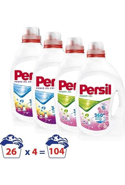 Persil Jel Sıvı Çamaşır Deterjanı Gülün Büyüsü & Renkli 26 Yıkama 4'lü Paket