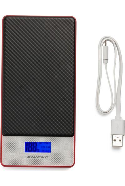 Pineng PN-993 10000mAh Hızlı Sarj QC 3.0 Type-C iPhone İçin Dönüştürücü Siyah Powerbank