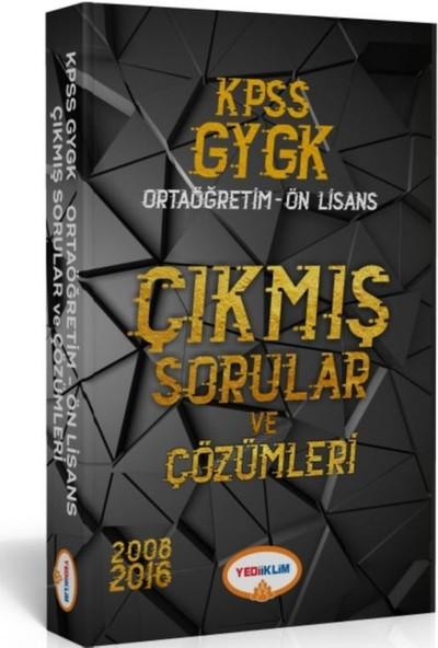 Yediiklim Yayınları 2018 KPSS Genel Yetenek - Genel Kültür Lise-Önlisans Tamamı Çözümlü Çıkmış Sorular Tek Kitap