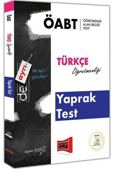 Yargı Yayınevi ÖABT DE AYRI Türkçe Öğretmenliği Yaprak Test