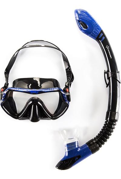 Anax Swimmer Dalış Maske/Şnorkel Seti Mavi